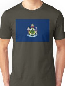 Maine state flag Unisex T-Shirt