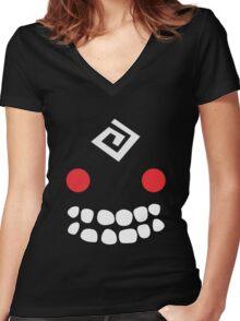 Black Spirit Women's Fitted V-Neck T-Shirt