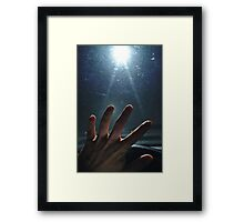 Abducted by UFO Framed Print