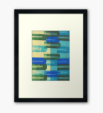 Crocodiles Rush Framed Print