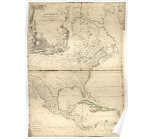 American Revolutionary War Era Maps 1750-1786 296 Amérique septentrionale Library of Congress Poster