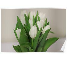 white-tulips Poster