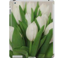 white-tulips iPad Case/Skin