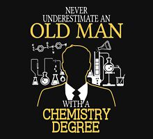 Old Woman With A Chemistry Degree Womens Fitted T-Shirt