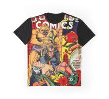 Vintage Science Comic Hero Graphic T-Shirt