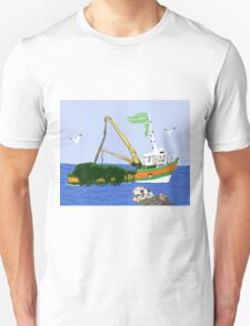 Kelp Cutter Boat And The Sea Otter Unisex T-Shirt
