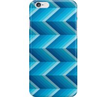 Zigzag chevron blue iPhone Case/Skin