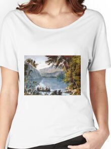 Echo Lake - White Mountains - 1850 - Currier & Ives Women's Relaxed Fit T-Shirt