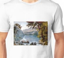 Echo Lake - White Mountains - 1850 - Currier & Ives Unisex T-Shirt
