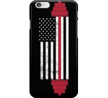 USA Weightlifting Flag iPhone Case/Skin