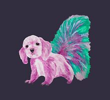 Half cute dog & half squirrel (pink+turquois) Women's Fitted Scoop T-Shirt