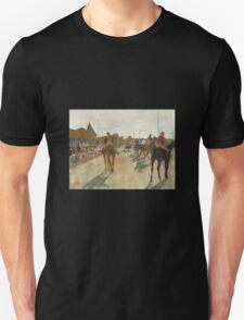 Edgar Degas - Race Horses Before The Stands   Unisex T-Shirt