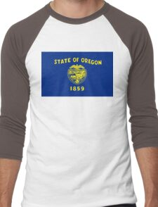 Oregon state flag Men's Baseball ¾ T-Shirt