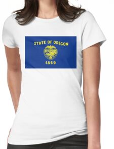 Oregon state flag Womens Fitted T-Shirt