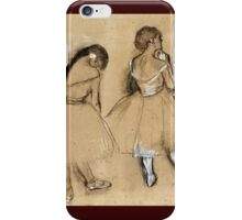 Edgar Degas - Three Dancers iPhone Case/Skin