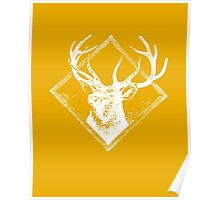 Stag white Poster