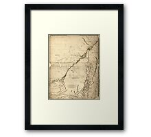 American Revolutionary War Era Maps 1750-1786 935 The provinces of New York and New Jersey with part of Pensilvania and the government's of Trois Rivières and Framed Print