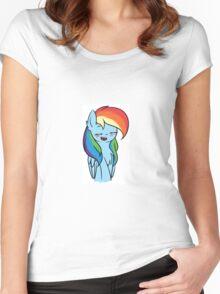 Happy Rainbow Dash~ Women's Fitted Scoop T-Shirt