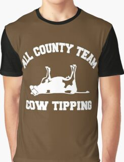 All County Team Cow Tipping Graphic T-Shirt