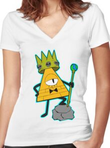 Gravity falls King Bill Cipher  Women's Fitted V-Neck T-Shirt