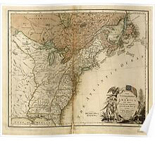 American Revolutionary War Era Maps 1750-1786 946 The United States of America laid down from the best authorities agreeable to the Peace of 1783 Poster