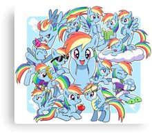 Every Rainbow Dash EVER Canvas Print