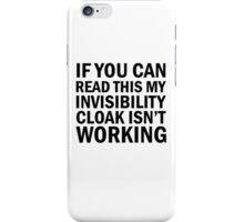 Harry Potter  - Invisibility Cloak Malfunction iPhone Case/Skin