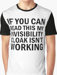 Harry Potter  - Invisibility Cloak Malfunction Graphic T-Shirt