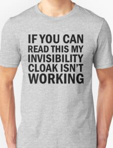 Harry Potter  - Invisibility Cloak Malfunction T-Shirt