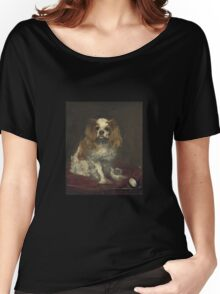 Edouard Manet - A King Charles Spaniel Women's Relaxed Fit T-Shirt