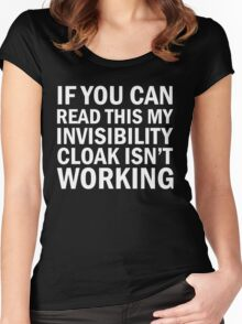 Harry Potter  - Invisibility Cloak Malfunction [Dark Edition] Women's Fitted Scoop T-Shirt