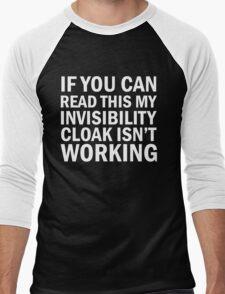 Harry Potter  - Invisibility Cloak Malfunction [Dark Edition] Men's Baseball ¾ T-Shirt