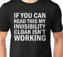 Harry Potter  - Invisibility Cloak Malfunction [Dark Edition] Unisex T-Shirt