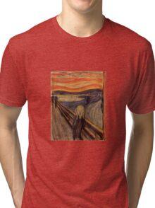 Edvard Munch - The Scream  Tri-blend T-Shirt