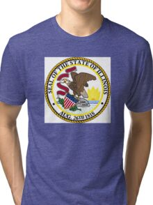 Illinois state seal Tri-blend T-Shirt