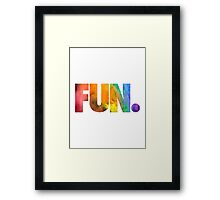 Fun. Colors Framed Print