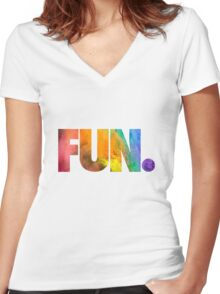 Fun. Colors Women's Fitted V-Neck T-Shirt