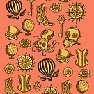 Victorian Steampunk - Coral  by Christina Draws