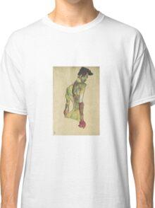Egon Shiele - Male Nude In Profile Facing Right Classic T-Shirt