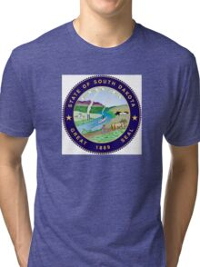 South Dakota state seal Tri-blend T-Shirt