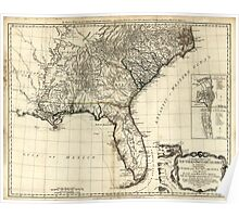 American Revolutionary War Era Maps 1750-1786 048 A general map of the middle British colonies in America 16 Poster