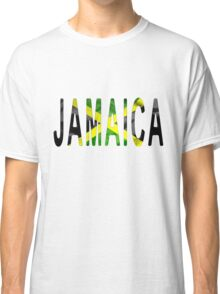Jamaica Word With Flag Texture Classic T-Shirt