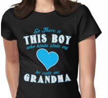 Grandma Grandson Womens Fitted T-Shirt