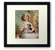 Emile Vernon - Waiting For The Vet Framed Print