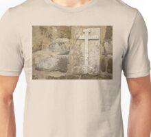 Cross on Medieval Church Wall Unisex T-Shirt