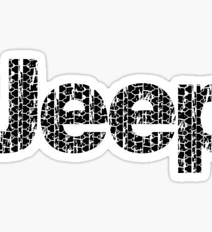Jeep tires 1 black Sticker