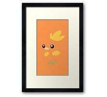 Torchic Minimal (Pokemon) Framed Print