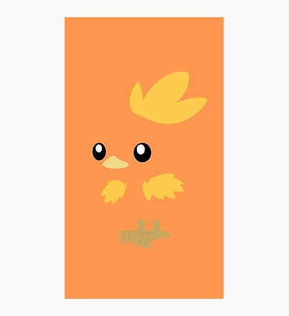 Torchic Minimal (Pokemon) Photographic Print