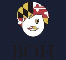 Edgar A. Boh with Maryland Flag One Piece - Long Sleeve
