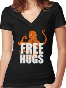 FREE Funny Women's Fitted V-Neck T-Shirt